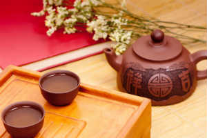 Chinese Tea Pot with 2 Cups red platter - TEA PARTY - Crop - Blog - Sm