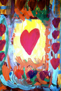 Facebook Colorful Heart Painting - FRENCH KISSES - Sm Blog